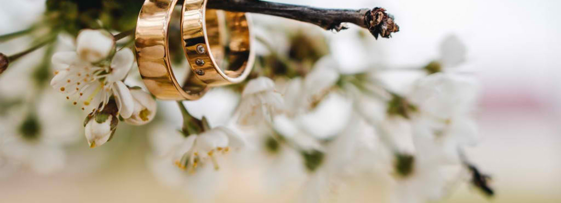 wedding ring on a twig